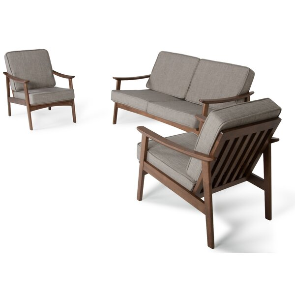 Houchens 3 Piece Living Room Set by Mercury Row