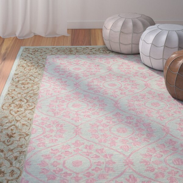Tomo Hand-Hooked Taupe Area Rug by Bungalow Rose
