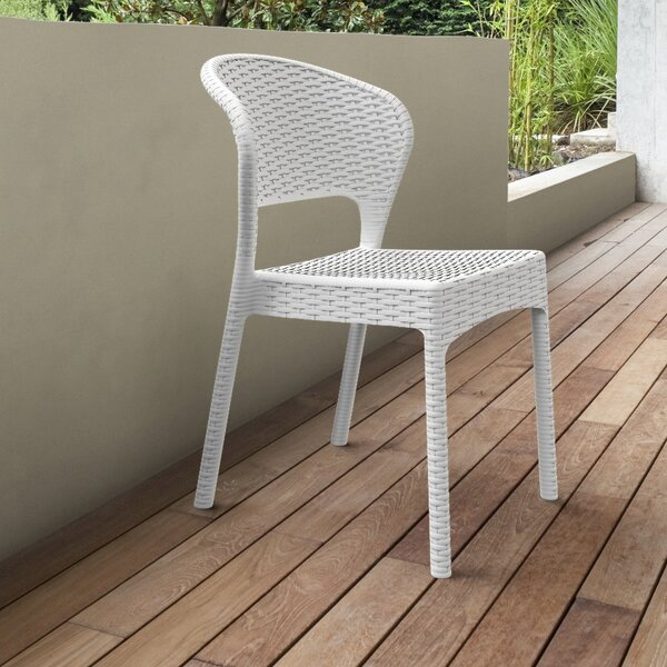 Ketterman Stacking Patio Dining Chair (Set Of 2) By Brayden Studio