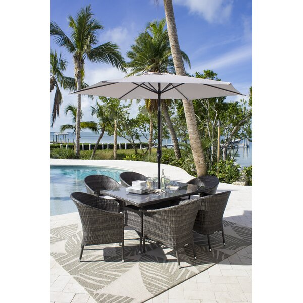 Saliba 7 Piece Sunbrella Dining Set with Cushions by Latitude Run