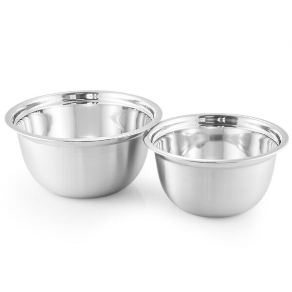 2 Piece Stainless Steel Mixing Bowl Set by McSunley
