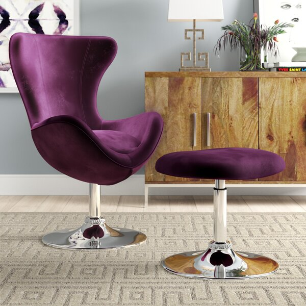 Kirree Balloon Chair and Ottoman by Willa Arlo Interiors Willa Arlo Interiors