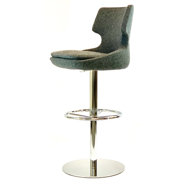 Weern Swivel Adjustable Height Bar Stool by Wrought Studio Wrought Studio™