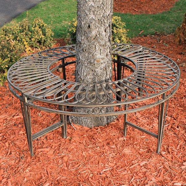 Gothic Roundabout Steel Garden Bench by Design Toscano Design Toscano