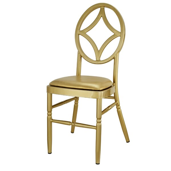 Kuntz Velika Series Stackable Diamond Aluminum Dining Chair by House of Hampton