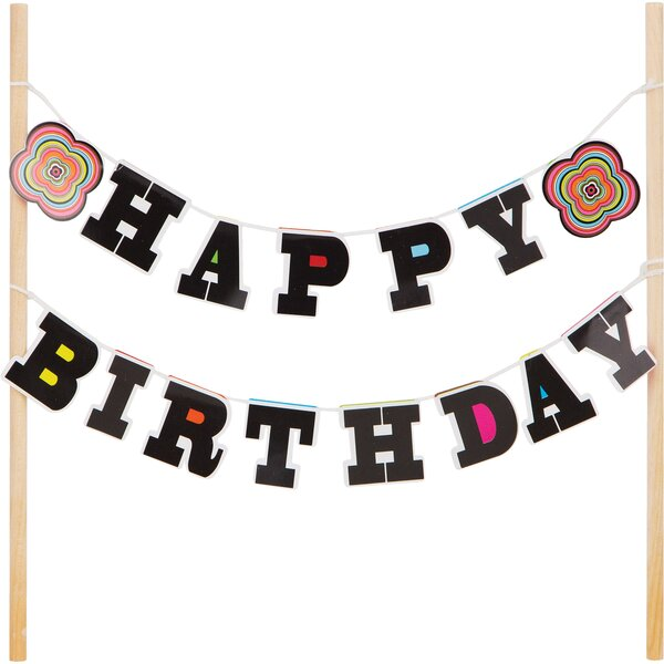 Mayton Birthday Banner Cake Topper by The Holiday Aisle