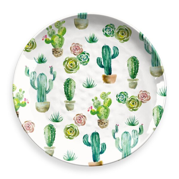 Omer Round Melamine Platter by Bungalow Rose