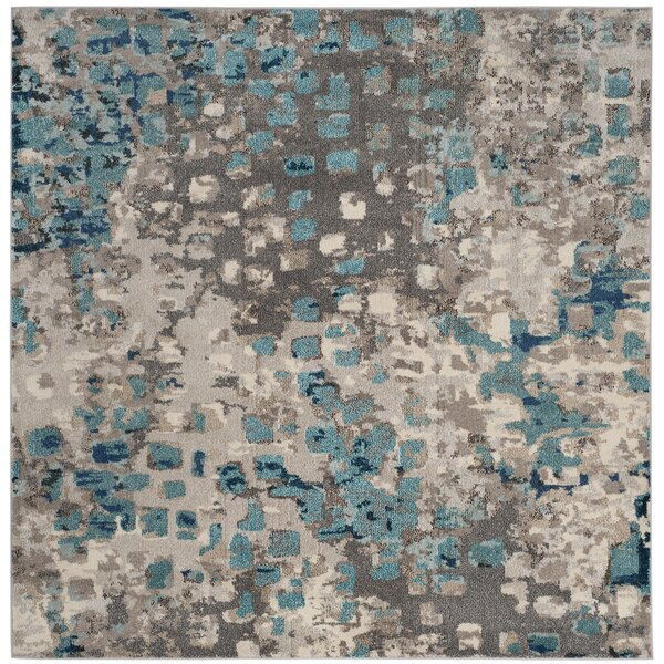 Annabel Gray & Light Blue Area Rug by Bungalow Ros
