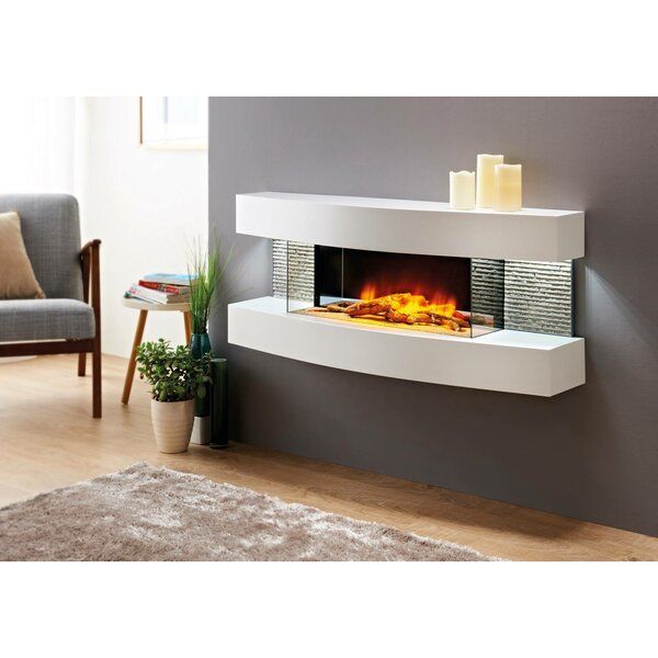 Fraenzel Curve Wall Mounted Electric Fireplace by Orren Ellis