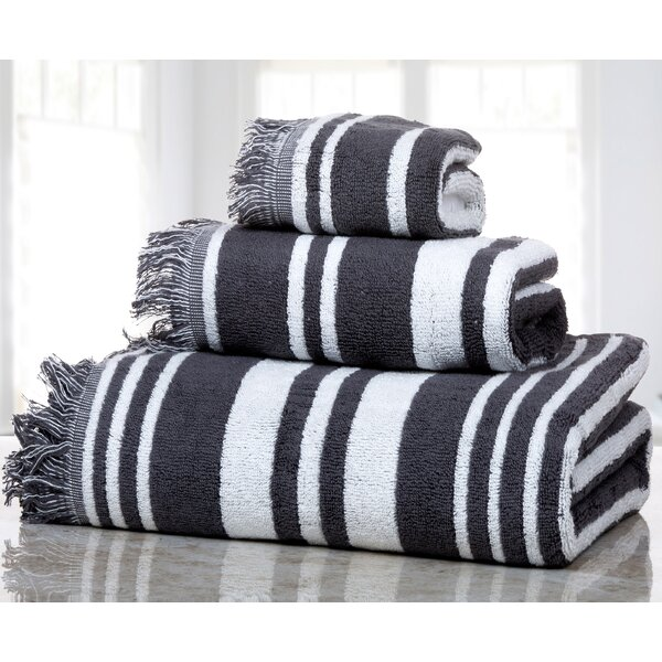 Farnworth 3 Piece Cotton Towel Set by Highland Dunes