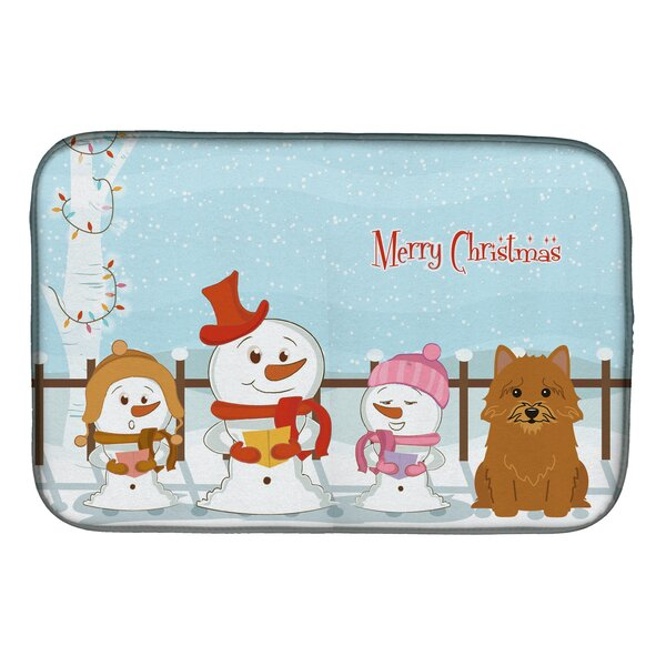 Merry Christmas Carolers Norwich Terrier Dish Drying Mat by Caroline's Treasures