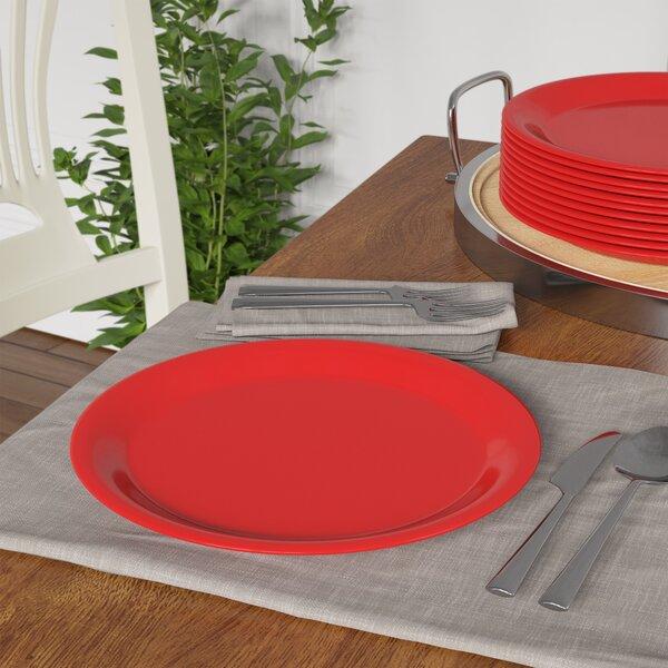 Olanta Melamine Narrow Rim Round Plate 10.5 Dinner Plate (Set of 12) by Red Barrel Studio