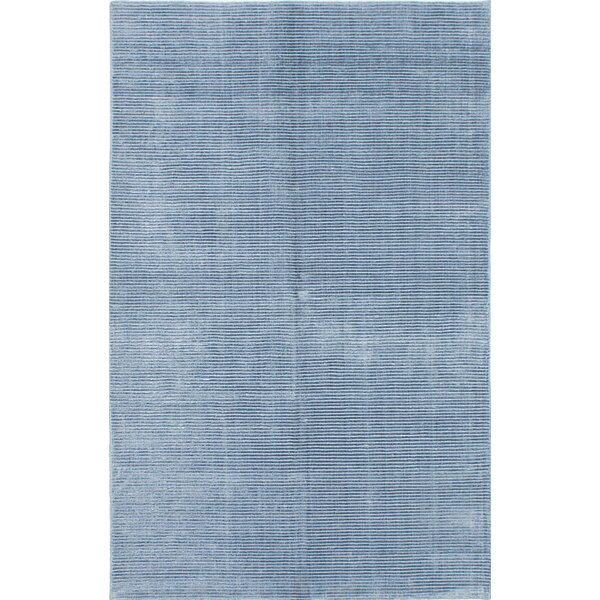 Don Hand-Knotted Sky Blue Area Rug by Latitude Run
