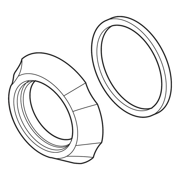 Addison Spout Flange and Gasket by Delta