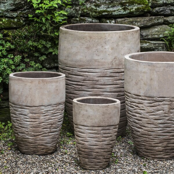 Amblewood 4-Piece Handmade Terra Cotta Pot Planter Set by Bloomsbury Market