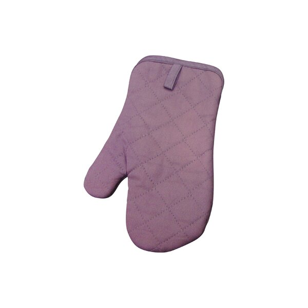 Quilted Oven Mitt in Plum (Set of 2) by Textiles Plus Inc.