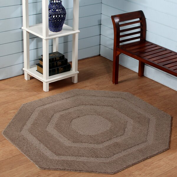 Hand-Tufted Beige Area Rug by Better Trends