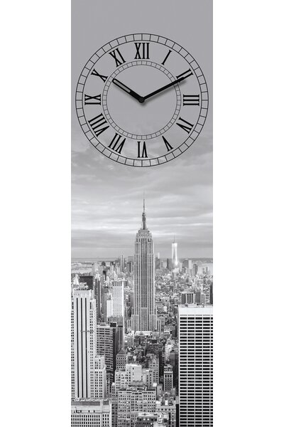 eurographics analoge wanduhr time art new york. Black Bedroom Furniture Sets. Home Design Ideas