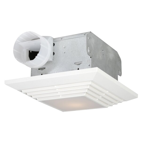 90 CFM Bathroom Ventilation Fan with Light in White by Craftmade