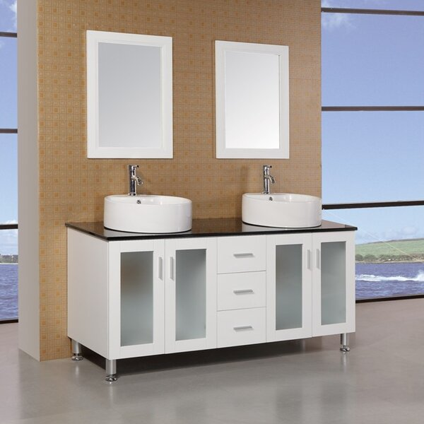 Palm Springs 60 Double Bathroom Vanity Set with Mirror by dCOR design