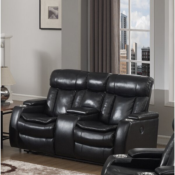 Cool Collection Hallett Reclining Loveseat by Latitude Run by Latitude Run