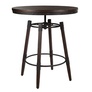 Best Reviews Bingaman Vintage Adjustable Height Bar Table by Williston Forge
