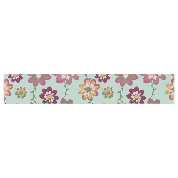 Nika Martinez Romantic Floral Table Runner by East Urban Home