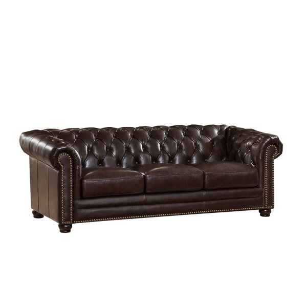Brittany Top Grain Leather Chesterfield Sofa by 17 Stories