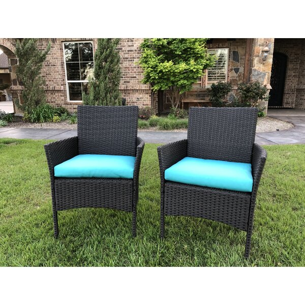 Doody Patio Dining Chair with Cushion (Set of 2) by Brayden Studio