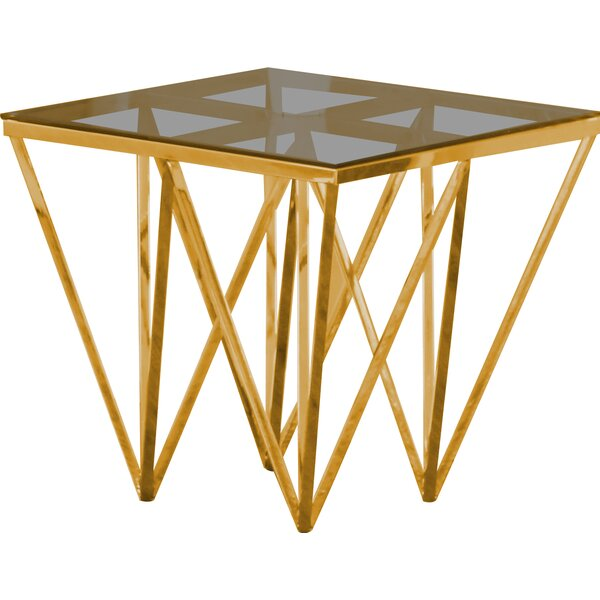 Krogman End Table by Everly Quinn