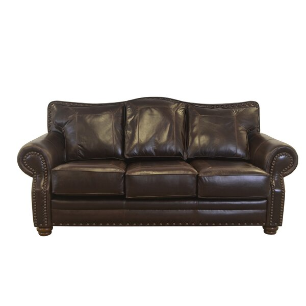 New Look Style Westford Leather Sofa by Westland and Birch by Westland and Birch