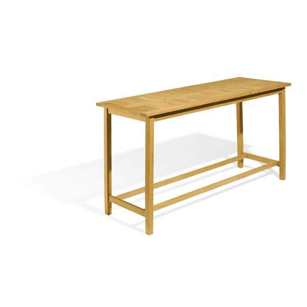 Morse Solid Wood Bar Table by Rosecliff Heights
