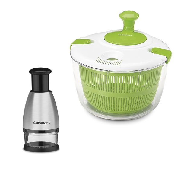 2 Piece Salad Spinner Set By Cuisinart.