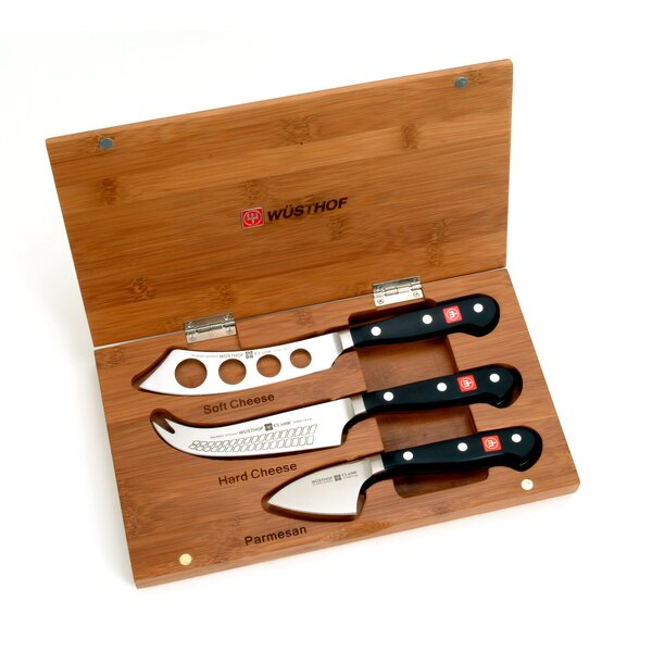 Classic 4 Piece Bamboo Cheese Knife Set by Wusthof