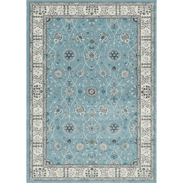 Jowett Teal Area Rug by Alcott Hill