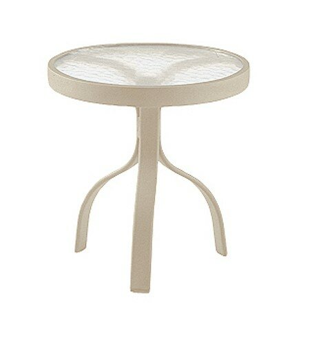 Aluminum Poolside Deluxe 18 Round Side Table by Woodard
