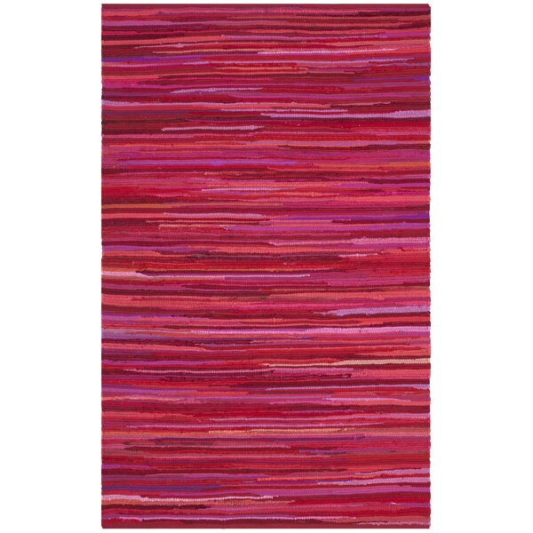 Shatzer Hand-Woven Red Area Rug by Wrought Studio