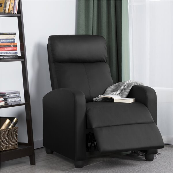 Mcghee Leather Home Theater Individual Seat By Red Barrel Studio