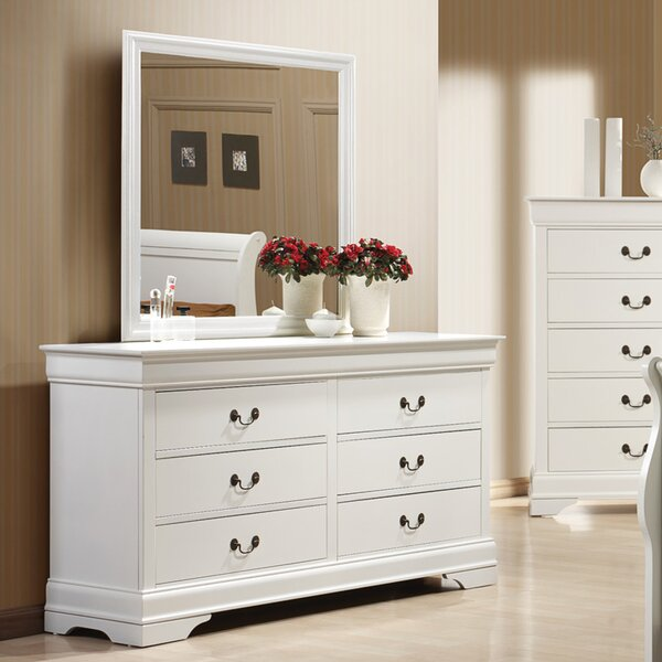 Barrett 6 Drawer Dresser with Mirror by Alcott Hill