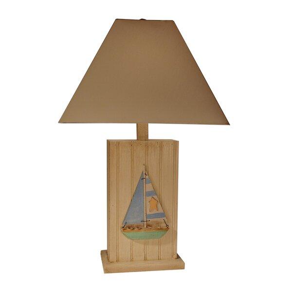 Brick Sailboat 29 Table Lamp by Highland Dunes