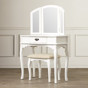 Look for Torrance Vanity Set with Mirror By Three Posts