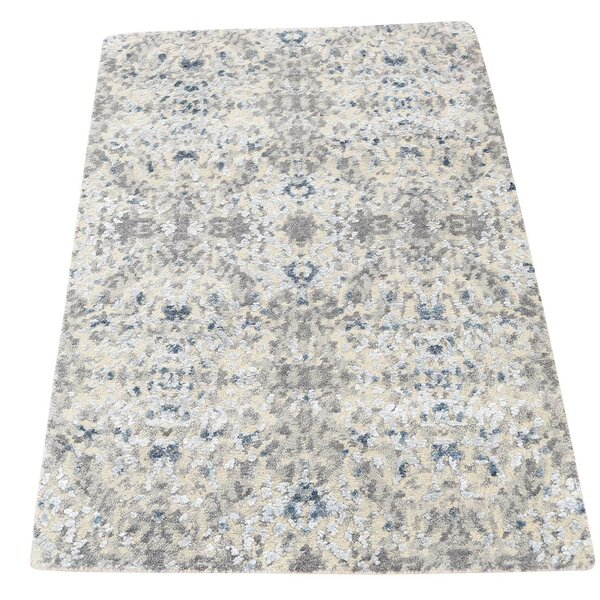 One-of-a-Kind Eddyville Hi-Lo Hand-Knotted Ivory Area Rug by 17 Stories