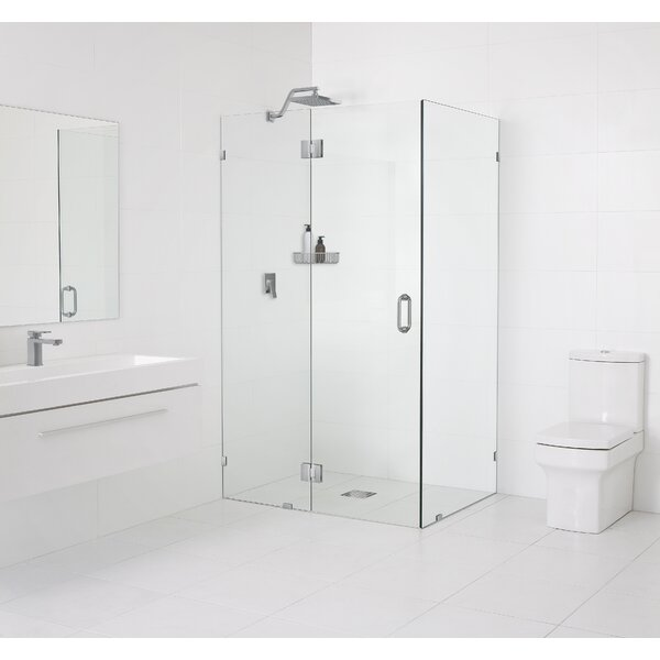 37 x 78 Hinged Frameless Shower Door by Glass Warehouse