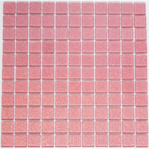 1 x 1 Glass Mosaic Tile in Pink by Susan Jablon