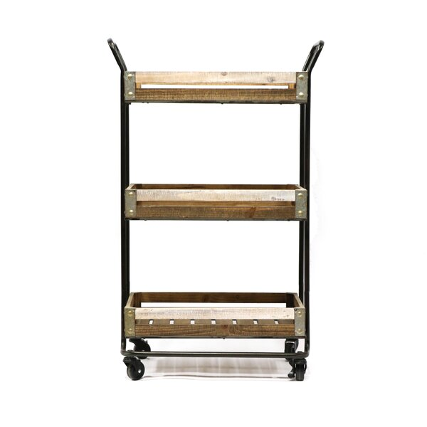Malcom Metal Bar Cart by Gracie Oaks