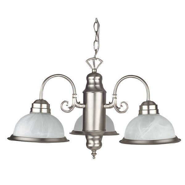Desimone 3-Light Shaded Classic / Traditional Chandelier By Winston Porter