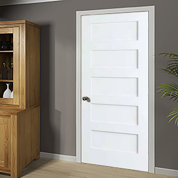 Shaker Solid Wood 5 Panel Wood Slab Interior Door by Kimberly Bay