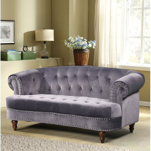 Chic Vinci Chesterfield Loveseat by House of Hampton by House of Hampton