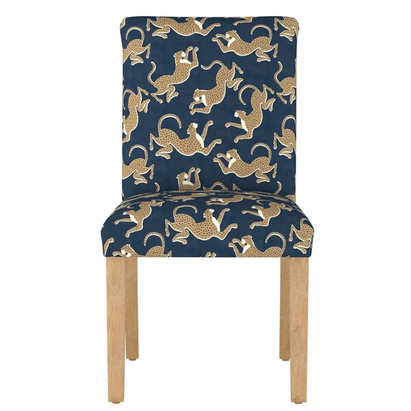 Malaya Leopard Upholstered Dining Chair by Bloomsbury Market