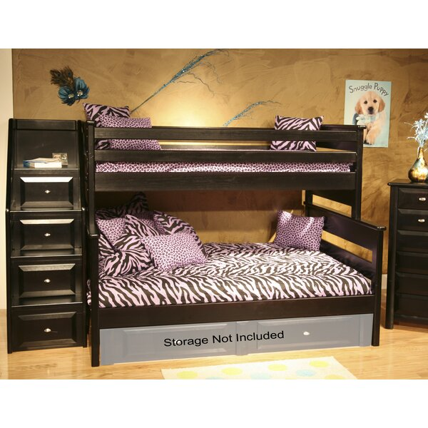 Petersen Twin Over Full Bunk Bed with Stairway Chest by Harriet Bee